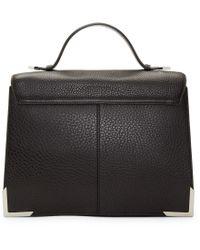 Mackage Black Leather Jori Satchel Bag