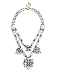 BaubleBar - Metallic Dahlia Layered Necklace - Lyst