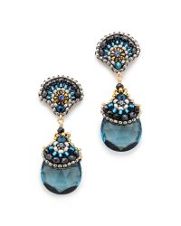 Miguel Ases | Aqua Earrings Blue | Lyst