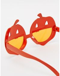 ASOS Halloween Pumpkin Sunglasses - Orange