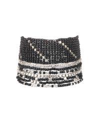 Pieces | Black Bracelet | Lyst
