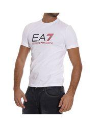 EA7 - White T-shirt for Men - Lyst