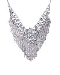 AKIRA - Metallic Chain Fringe Floral Set - Lyst