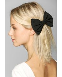 Urban Outfitters - Black Large Bow Hair Clip - Lyst