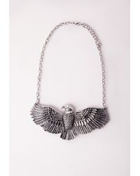 Missguided - Metallic Darylle Eagle Necklace - Lyst