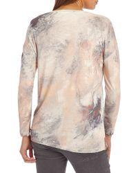 Betty Barclay Natural Long Sleeve Printed T-shirt