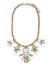 Forever 21 - Metallic Faux Gem Statement Necklace - Lyst