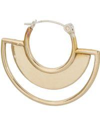 Pamela Love - Metallic Cutout Sunset Hoop Earrings - Lyst