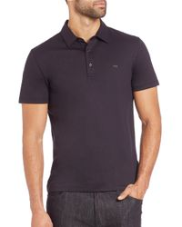 Michael Kors | Black Logo Cotton Polo for Men | Lyst
