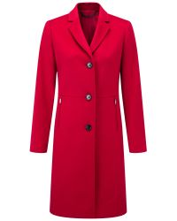 Pure Collection Red Single Breasted Coat