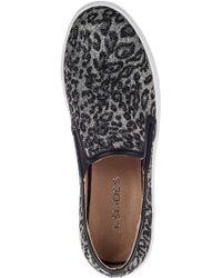 J Slides Denim J Zee Slip On Sneaker Pewter Leopard In