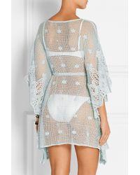 Miguelina - Blue Petra Crocheted Cotton Kaftan - Lyst