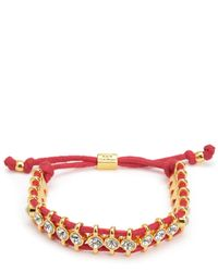 Juicy Couture | Red Rhinestone Friendship Bracelet | Lyst