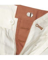 Thom Sweeney Orange Brook Slim-Fit Cotton-Twill Trousers for men