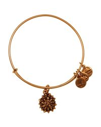ALEX AND ANI - Metallic Water Lily Expandable Wire Bangle - Lyst