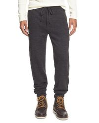 Apolis | Gray Boiled Alpaca Blend Knit Sweatpants for Men | Lyst