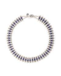 Philippe Audibert | Metallic 'han' Lapis Stone Bead Necklace | Lyst