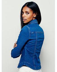 Free People | Blue Womens Rogue Slim Denim Shirt | Lyst