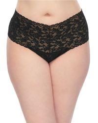Hanky Panky | Black Plus Bare Retro Lace Thong | Lyst