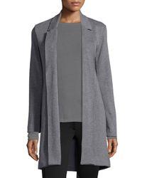 Neiman Marcus | Brown Merino Wool Driving Coat | Lyst