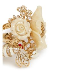Anabela Chan - Metallic 'bumble Blossom' Diamond Pavé 18k Yellow Gold Ring - Lyst