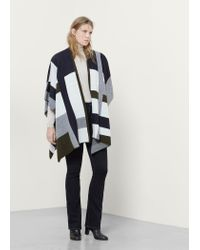 Violeta by Mango | Blue Wool-blend Cape | Lyst