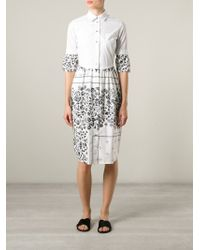 MM6 by Maison Martin Margiela - White Shirt Dress - Lyst