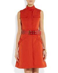 Lanvin Red Studded Pvc Belt