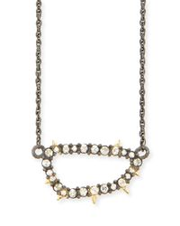 Alexis Bittar | Metallic Elements Spiked Crystal Link Pendant Necklace | Lyst