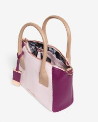 Ted Baker - Pink Colour Block Leather Tote Bag - Lyst