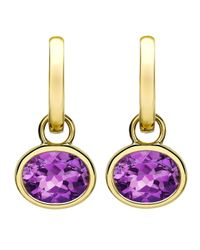 Kiki McDonough - Purple 18k Gold Eternal Amethyst Drop Earrings - Lyst