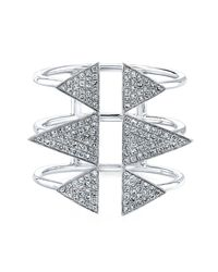 Anne Sisteron | Metallic 14kt White Gold Diamond Triple Spike Ring | Lyst