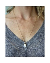Peyton William Handmade Jewelry | Metallic Mother Of Pearl & White Topaz Necklace | Lyst