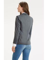 Oasis Gray Clean Ponte Jacket