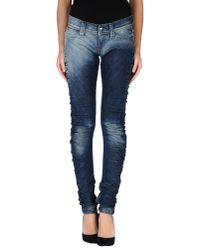 Miss Sixty | Blue Denim Trousers | Lyst
