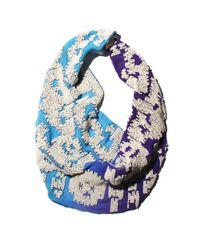 Mignonne Gavigan | White Ikat Dip Dyed Purple / Turquoise Dip Ivory | Lyst