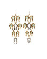 Alexis Bittar - Metallic Aigrette Chandelier Amazonite Earrings - Lyst