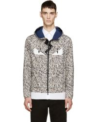 Fendi Gray Beige And Grey Camo Monster Eye Windbreaker for men