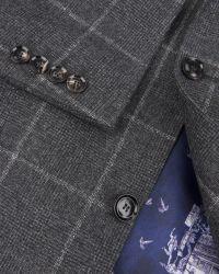 Ted Baker   Gray Veerity Diamond Jacquard Suit Jacket for Men   Lyst