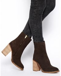 ASOS Brown Empower Leather Boots