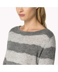 Tommy Hilfiger | Gray Balina Reversible Stripe Cardigan | Lyst