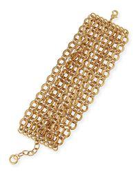 R.j. Graziano | Metallic Mtte Chain Flatline Bracelet | Lyst