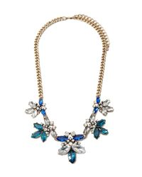 Forever 21 - Blue Rhinestone Curb Chain Necklace - Lyst