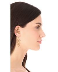 Alexis Bittar Metallic Mosaic Chandelier Earrings