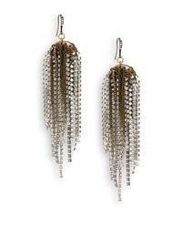 Saks Fifth Avenue - Multicolor Mixed-Metal Fringe Sparkle Drop Earrings - Lyst