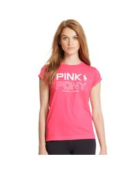 Ralph Lauren | Pink Pony Cotton Graphic Tee | Lyst