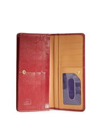 Tusk Red Madison Leather Gusseted Clutch