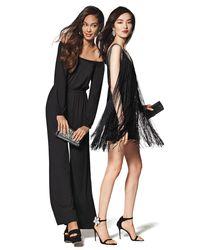 Haute Hippie Black Sleeveless Fringe Flapper Dress