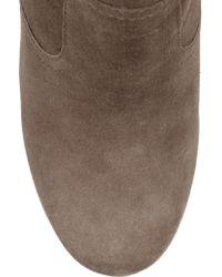Tory Burch Brown Hendin Suede Wedge Boots