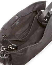 Loewe Flamenco 22 Calfskin Drawstring Bag Black